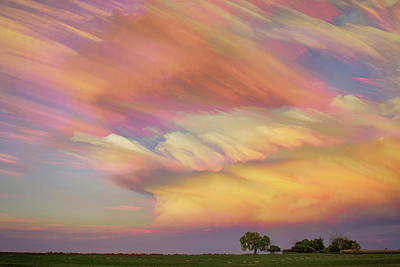 Poster featuring the photograph Pastel Painted Big Country Sky by James BO Insogna