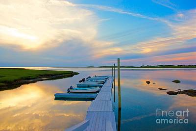 Pastel Reflections On Cape Cod Poster by Amazing Jules
