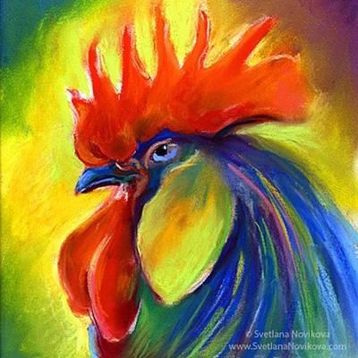 Pastel Rooster By Svetlana Novikova ( Poster