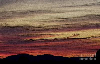 Pastel Sunset - Embossed Poster by Erica Hanel