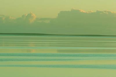Pastel Sunset Sea Green Poster