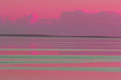 Pastel Sunset Sea Pink Poster