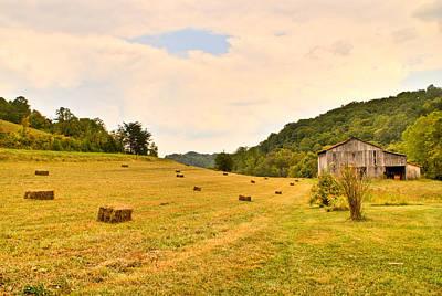 Pastorial Framland In Kentucky Poster by Douglas Barnett