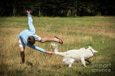 Pasture Ballet Human Interest Art By Kaylyn Franks   Poster