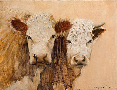 Poster featuring the painting Pasture Buddies by John Reynolds