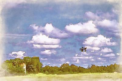 Poster featuring the digital art Pastureland by Barry Jones