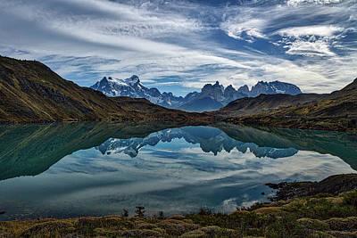 Patagonia Lake Reflection - Chile Poster