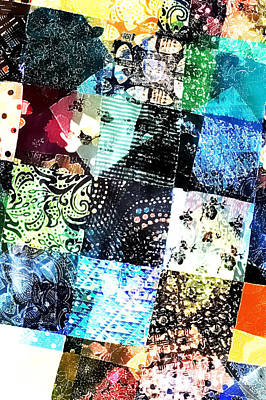 Patchwork Abstract Poster by Tom Gowanlock