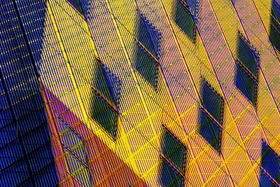 Patchwork Architecture IIi Poster by KM Corcoran