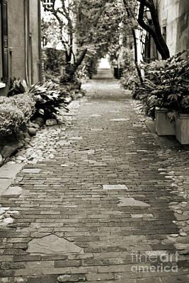 Patchwork Pathway In Sepia Aka Philadelphia Alley Poster by Dustin K Ryan