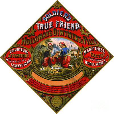 Poster featuring the photograph Patent Medicine Label 1862 by Padre Art