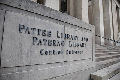 Paterno Library At Penn State  Poster by John McGraw