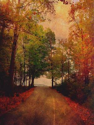 Path Into Autumn Poster