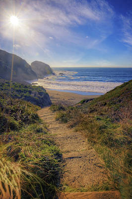Path To South Rodeo Beach - Marin County California #3 Poster by Jennifer Rondinelli Reilly - Fine Art Photography