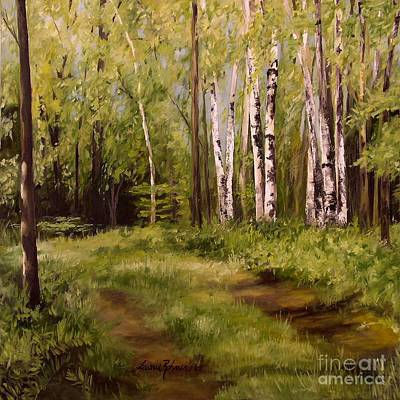 Path To The Birches Poster by Laurie Rohner