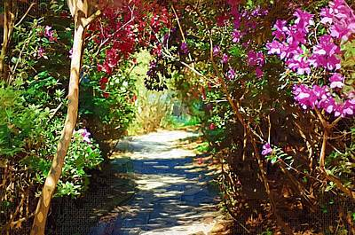 Poster featuring the digital art Path To The Gardens by Donna Bentley