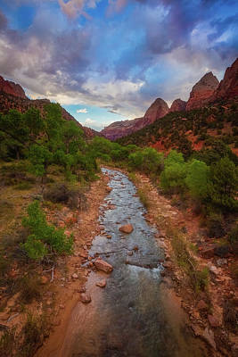 Poster featuring the photograph Path To Zion by Darren White