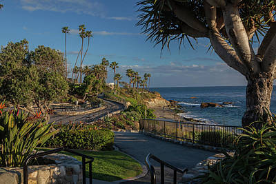 Poster featuring the photograph Pathway Along Heisler Park by Cliff Wassmann