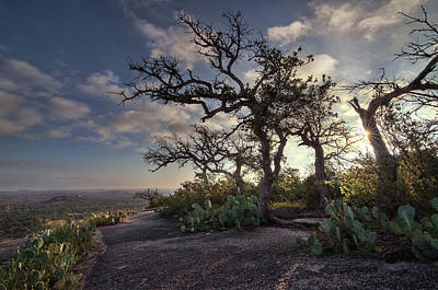 Pathway On Top Of Enchanted Rock Poster