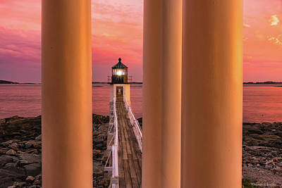 Poster featuring the photograph Marshall Point - Beacon Of Light by Expressive Landscapes Fine Art Photography by Thom