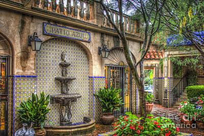 Patio Azul - Tlaquepaque Shopping Village - Sedona  Arizona Poster by Jon Berghoff