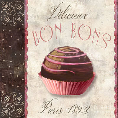 Patisserie Bon Bons Poster by Mindy Sommers