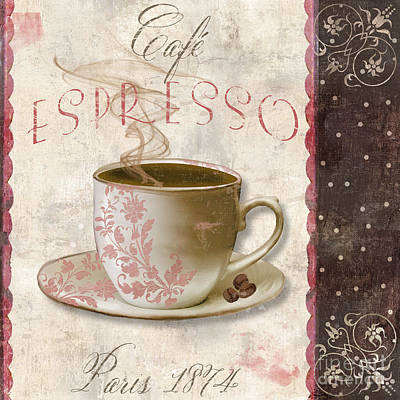 Patisserie Cafe Espresso Poster by Mindy Sommers