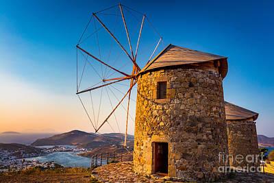 Patmos Windmills Poster
