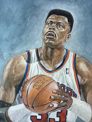 Patrick Ewing Poster by Nigel Wynter