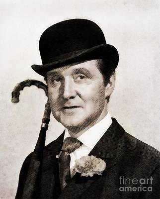 Patrick Macnee, Vintage Actor By John Springfield Poster