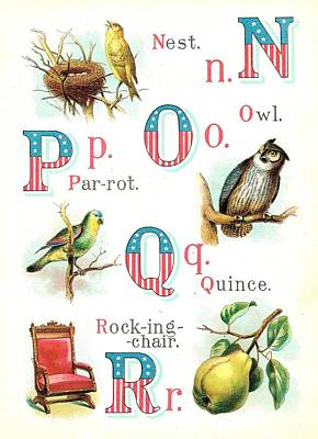 Patriot Abc Book Page Eight Poster by Reynold Jay