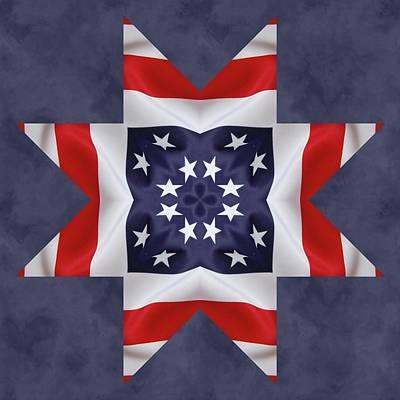 Patriotic Star 2 Poster by Jeff Kolker