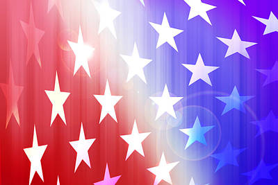 Patriotic Background Poster by Thomas Morris