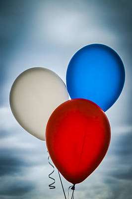 Patriotic Balloons Poster by Carolyn Marshall