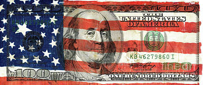 Patriotic Benjamin Poster by Jon Neidert