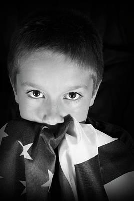 Patriotic Boy Poster