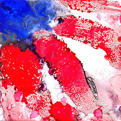 Patriotic Flag Abstract  Poster