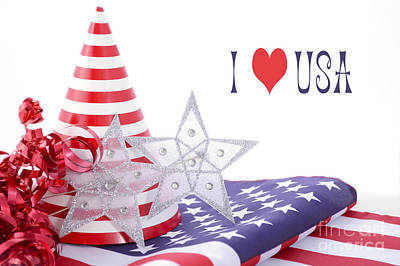 Patriotic Party Decorations For Usa Events Poster by Milleflore Images