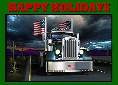 Poster featuring the digital art Patriotic Pete Happy Holidays by Stuart Swartz