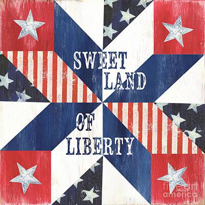 Patriotic Quilt 3 Poster by Debbie DeWitt