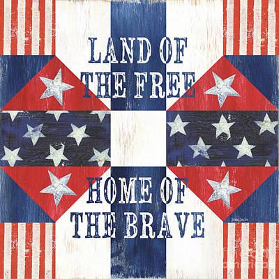 Patriotic Quilt 4 Poster by Debbie DeWitt