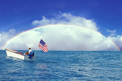 Patriotic Rainbow Poster