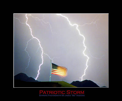Patriotic Storm - Poster Print Poster by James BO  Insogna