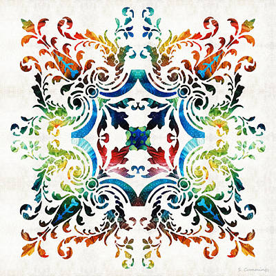 Pattern Art - Color Fusion Design 7 By Sharon Cummings Poster by Sharon Cummings
