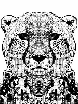 Patterned Cheetah Poster by Harold Belarmino