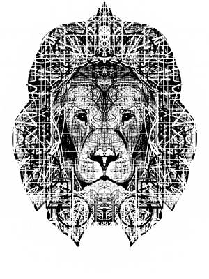 Patterned Lion Poster by Harold Belarmino