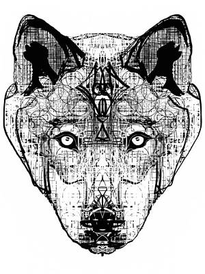 Patterned Wolf  Poster by Harold Belarmino
