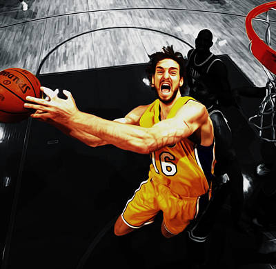 Pau Gasol 2a Poster by Brian Reaves