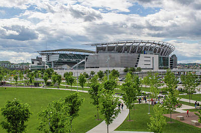 Paul Brown Stadium Color Poster by Scott Meyer