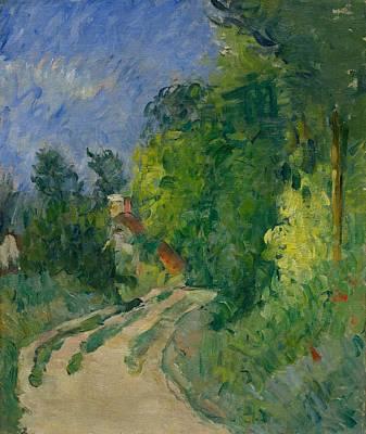 Paul Cezanne,  Bend In The Road Through The Forest  La Route Tournante En Sous-bois Poster